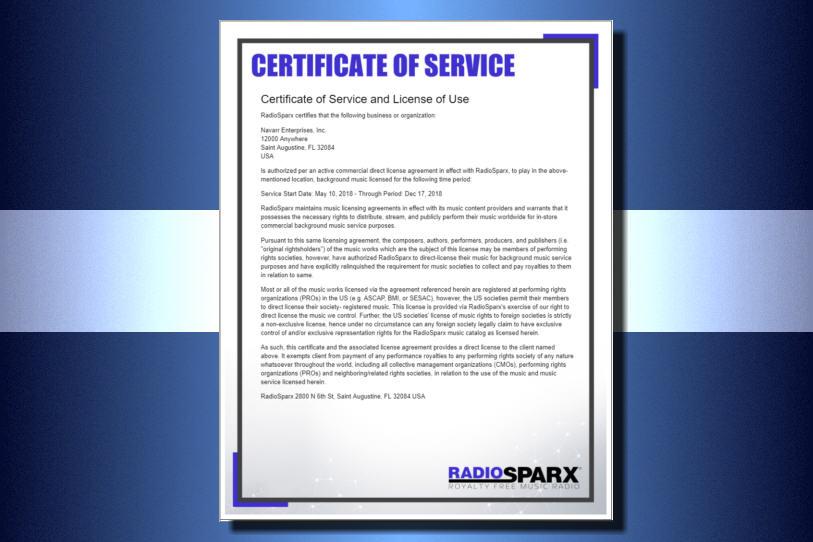 Service Features of RadioSparx